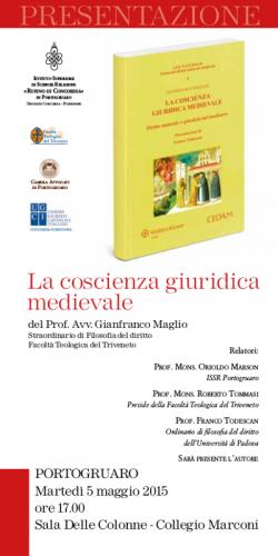 """Presentazione de """"La coscienza giuridica medievale"""" di Gianfranco Maglio"""