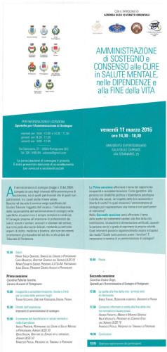 Portogruaro, 11 marzo 2016: Convegno sull'amministrazione di sostegno