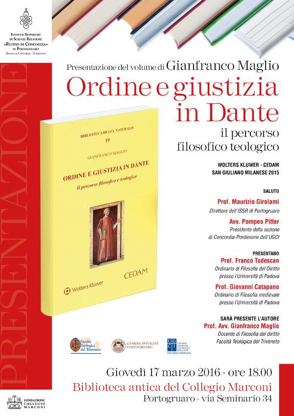 Presentazione libro Ordine e Giustizia in Dante