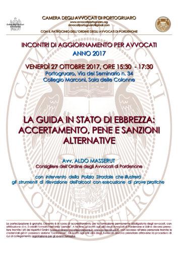 Circolare n. 8 - Evento Formativo del 27 ottobre 2017